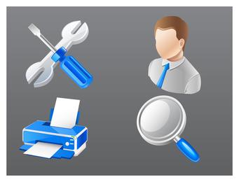 icono de negocio práctico azul