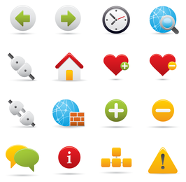 Conjunto de símbolos y signos de dibujos animados