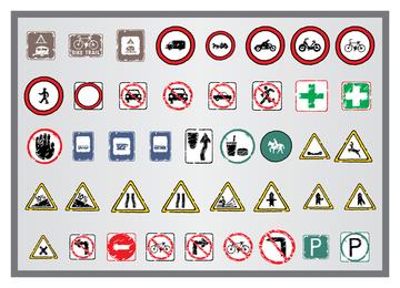 Antiguo icono de señales de tráfico 2