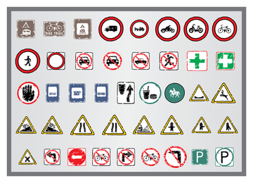 Old Traffic Signs Icon 2