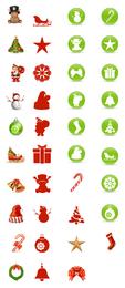 Hermoso conjunto de iconos de Navidad