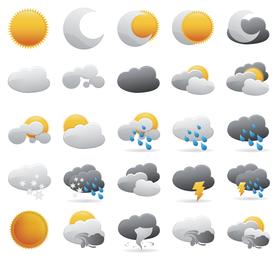Wetter-Ikonen-Vektor-Grafik