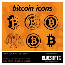 Ícones de logotipo Bitcoin