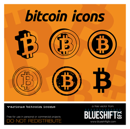 iconos de logotipo Bitcoin
