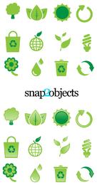Elementos de Design ecológico Vector
