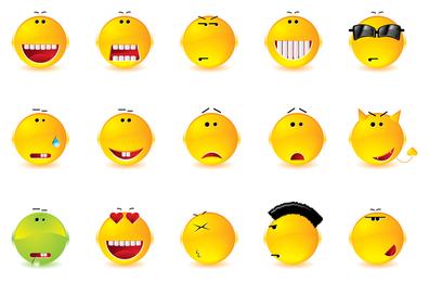 Emoticons cheios de expressões