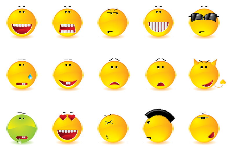 Emoticons full of expressions