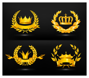 Gold medal crown set