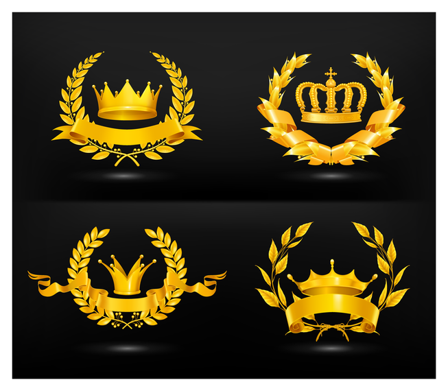 Gold medal crown set