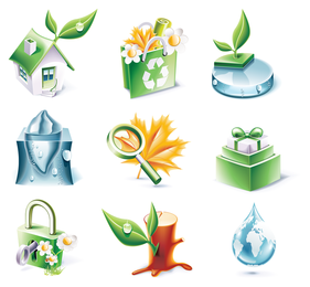 threedimensional icon vector environmental