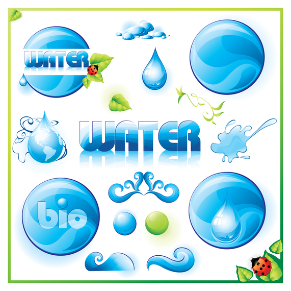 Water Circles And Droplets Icon Design Vector Download