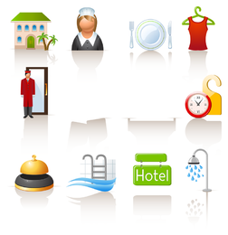 Auto lifestyle icon vector set