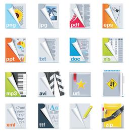 file format icon vector