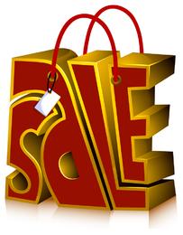 ventas de icono tridimensional