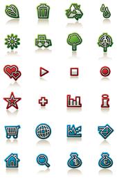 Simple decorative icon vector