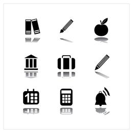 ícone de vetor preto simples