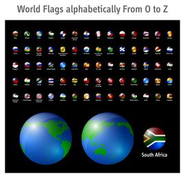 Icono de bandera nacional sofisticado 2