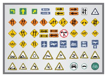 Antiguo icono de señales de tráfico 3