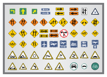 Old Traffic Signs Icon 3