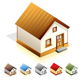 Vector icono de casa pequeña