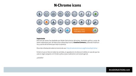 Iconos de cromo n