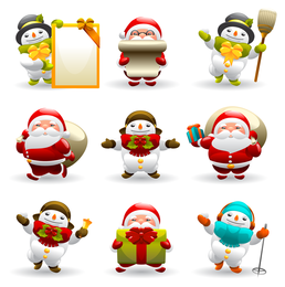 Christmas Santa Icon Pack