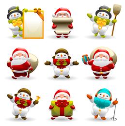 Pacote de ícones de Papai Noel de Natal