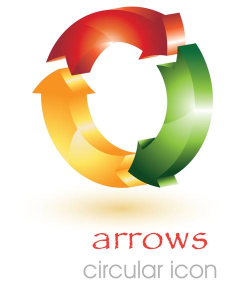 3d circular arrow vector - Vector download