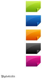 Conjunto de 5 ícones de pastas de arquivo colorido