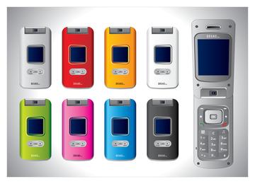 Vector de teléfonos celulares