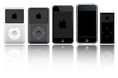 Apple ipod products vector