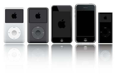 Vetor de produtos Apple ipod