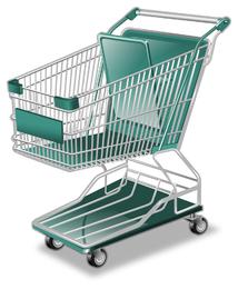 Vector icono de compras