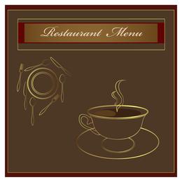 Coffee menu illustration design in brown