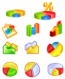 ícone de classe de estatísticas práticas
