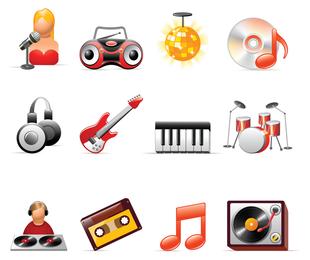Vetor de ícone de música