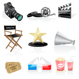 icono de película vector 2