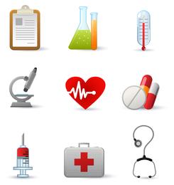 Vetor de ícone de equipamento médico