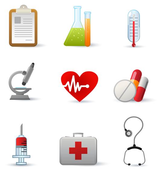Vector icono de equipo médico