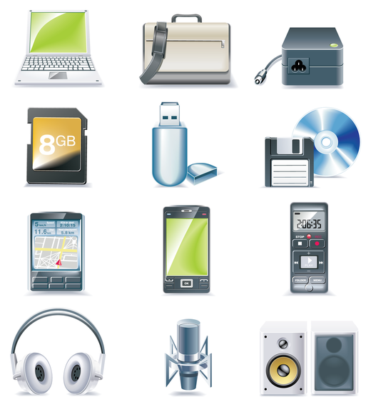 Smartphones and devices 3D icon set