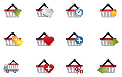 práctico icono de la cesta de compras