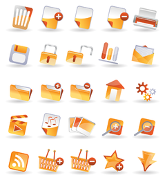 25 iconos vectoriales prácticos