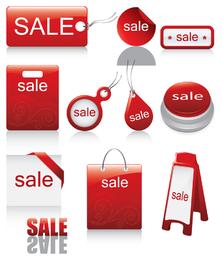 Icono rojo Vector de ventas