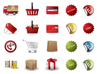 Einkaufen-Vektor-Icon-Set