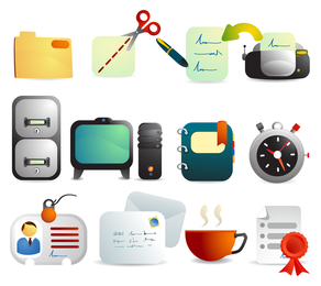 Cute Office Supplies Vector
