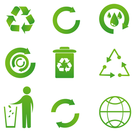 Recicle los vectores de iconos