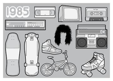 80 ilustraciones de elementos