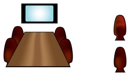 Konferenzraum-Symbol-Vektoren