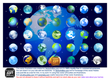 3D-Globus-Icons Set