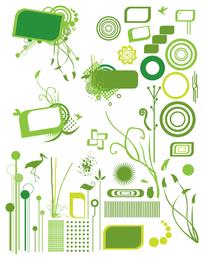 Variados ícones verdes